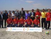 La selección española de fútbol playa promocionará la Mancomunidad Turística del Mar Menor en sus camisetas