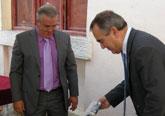 González Tovar y Miguel Navarro presentan el proyecto de rehabilitación y ampliación del Ayuntamiento de Campos del Río