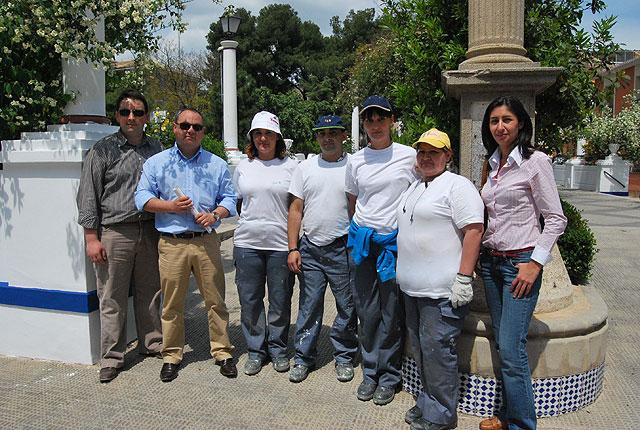 """El Taller de Empleo """"Cerro del Castillo"""" remodela el jardín de Los Mártires y el de El Calvario, Foto 2"""