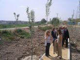 La directora general del Agua del MARM visita las obras de modernización de regadíos de la Acequia Mayor de Molina y las de recuperación ambiental en el río Segura