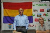 Pedro Marset, candidato a las elecciones europeas por IU, protagonizó en la sede del partido en Totana un acto de precampaña electoral