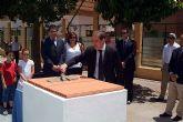 Hoy quedó colocada la primera piedra del pabellón polideportivo de Campoamor