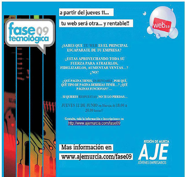 """The City Council and the Young Entrepreneurs Association (AJE) Guadalentín organized a seminar on """"Technology in the service of SMEs """""""
