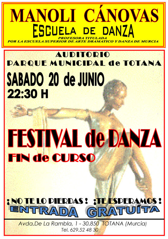 The School of Dance Manoli Canovas surprise to the public Saturday totanero a Bollywood show in addition to the usual styles.