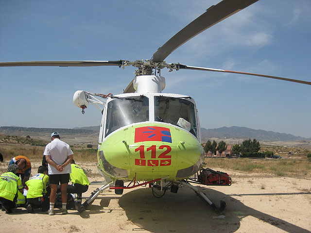 A motorcyclist is seriously injured in an accident in the hamlet of El Paretón