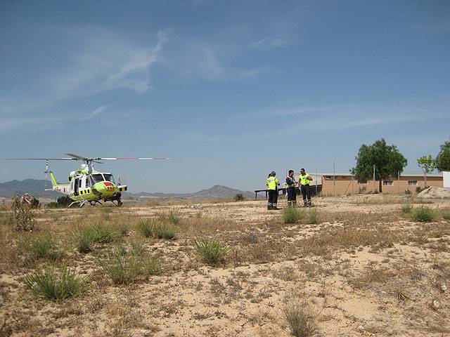 A motorcyclist is seriously injured in an accident in the hamlet of El Paretón, Foto 2
