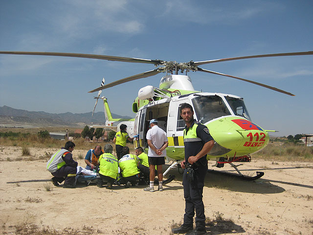 A motorcyclist is seriously injured in an accident in the hamlet of El Paretón, Foto 3