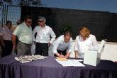 Hoy quedó colocada la primera piedra de las obras a realizar  por el ayuntamiento de Alcantarilla