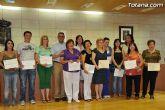 La Concejalía de Mujer e Igualdad de Oportunidades clausura las actividades 08-09 con la entrega de diplomas de distintos cursos