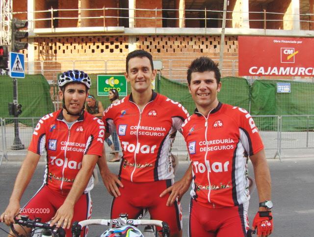 The CC Santa Eulalia played regional cycling championships senior and master in Mazarrón