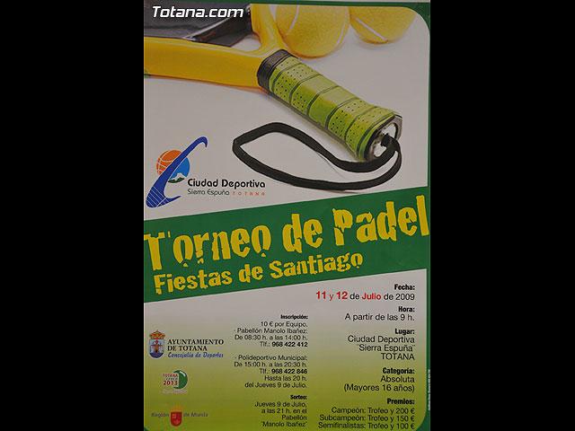 """El I Torneo de Pádel """"Fiestas de Santiago""""  se celebrará los días 11 y 12 de julio en la Ciudad Deportiva - 4, Foto 4"""