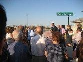 El Alcalde inaugura una calle en La Albatalía en homenaje a Paco Esteban