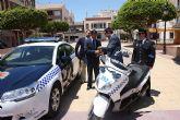 La Comunidad entrega a la Policía Local de Torre Pacheco un nuevo coche patrulla y dos motocicletas