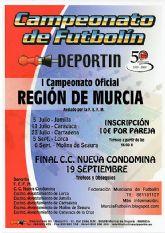 Jumilla acoge, este sábado 4 de julio, una fase del I Campeonato de Futbolín de la Región de Murcia