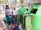 El Ayuntamiento pone en marcha una campaña de recogida de vidrio centrada en facilitar a los hosteleros el reciclaje