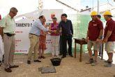 El Alcalde de Puerto Lumbreras y el consejero de Cultura y Turismo colocan la primera piedra del Museo y Centro Folklórico Virgen del Rosario