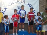 José Ángel Camacho, del Club Ciclista Santa Eulalia, sube por tercera vez consecutiva al pódium en escuelas de ciclismo