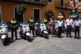 La Policía Local de Alcantarilla recibe seis nuevas motocicletas para reforzar la seguridad ciudadana