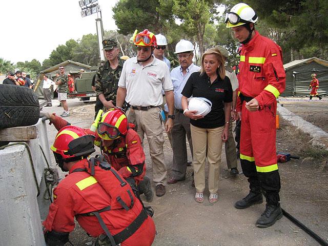 Más de 140 efectivos de emergencias participan en Cartagena en el simulacro de un terremoto - 1, Foto 1
