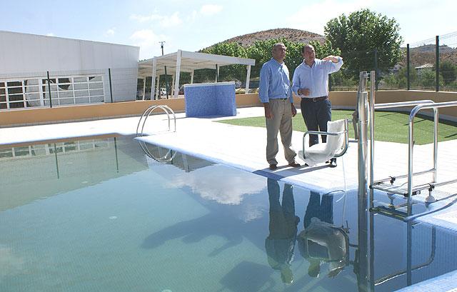 Finalizan las obras de la nueva piscina del Albergue Juvenil Cabezo la Jara de Puerto Lumbreras - 1, Foto 1