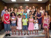 Recepción del alcalde a niños saharauis