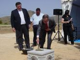 González Tovar y el alcalde de La Unión ponen la primera piedra de 2 pabellones polideportivos y de las obras del nuevo museo etnológico