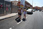 Finalizan las obras, incluidas en el Plan Estatal de Inversión Local, en la calle Santomera