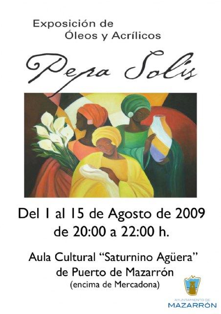 Pepa Solís expone en Mazarrón sus óleos y acrílicos, Foto 1