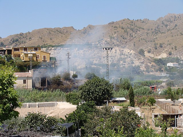 Incendio en el Paraje de Candelón en Abarán - 1, Foto 1