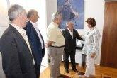 La alcaldesa recibe a la directiva del Centro Gallego de la Región de Murcia