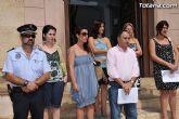 Concentración silenciosa en la puerta del Consistorio como repulsa al atentado de la banda terrorista ETA en Mallorca