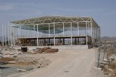 Avanzan las obras del Centro Multiusos Pabellón Deportivo de la Estación del Esparragal de Puerto Lumbreras