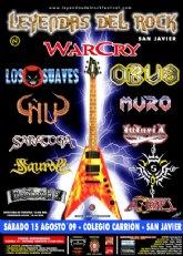 San Javier se convierte en el centro del rock este fin de semana con el IV Festival Leyendas del Rock