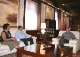El presidente de la Comunidad recibió hoy en el Palacio de San Esteban de Murcia al alcalde de Ricote