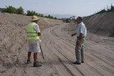 Continúan las obras de acondicionamiento de la Rambla del Murciano de Puerto Lumbreras