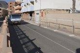 Las obras del nuevo colector de Mazarr�n avanzan hasta la calle del Pino