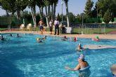 El Ayuntamiento de Puerto Lumbreras clausura la campaña estival de aquagym para mayores