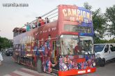 El autobús del Barça llega a Cehegín, este miércoles