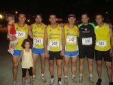 Pedro Ruiz y Rosa Mar�a Hern�ndez, del Club Atletismo Totana, subieron al podium en la XVI carrera nocturna de Mazarr�n