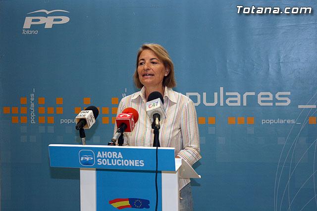 La presidenta del PP de Totana asegura que el Tribunal de Cuentas no ha archivado la denuncia contra Otálora y Martínez Baños - 1, Foto 1