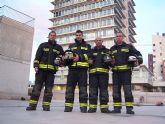 Bomberos de Murcia ocupan un lugar destacado en la III Carrera Vertical Torre Espacio de Madrid