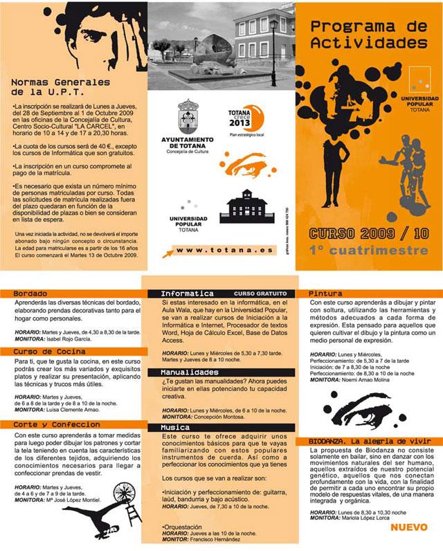 """Ofertan un total de 8 cursos del programa de actividades de la """"Universidad Popular de Totana"""" - 1, Foto 1"""