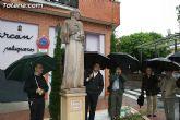 Inauguran una escultura que rinde homenaje a la orden capuchina de Totana