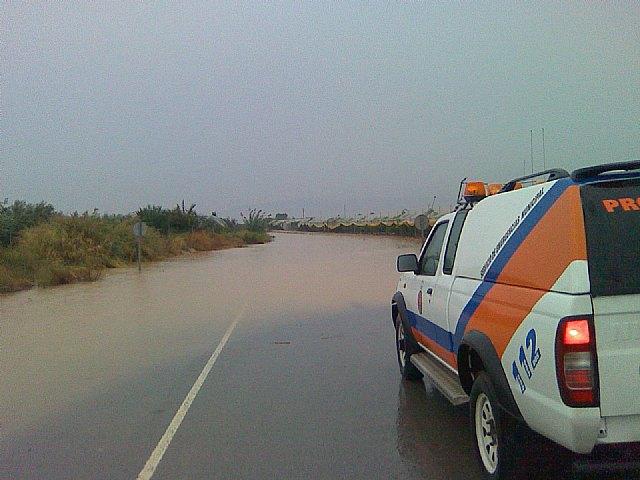 Policía Local y Protección Civil participaron el dispositivo de seguridad establecido con motivo de las lluvias caídas en Totana - 2, Foto 2