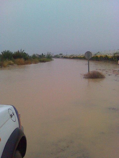 Policía Local y Protección Civil participaron el dispositivo de seguridad establecido con motivo de las lluvias caídas en Totana - 3, Foto 3