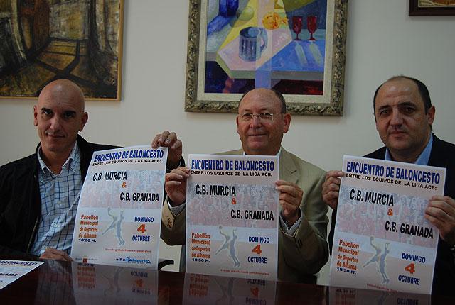 El próximo domingo día 4 de octubre se celebra en la localidad el partido de Baloncesto entre el C.B. Murcia y el C.B. Granada, Foto 1