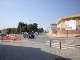 Las obras de una rotonda obligan a cortar un tramo de la avenida de La Unión, en San Javier