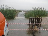 Policía Local y Protección Civil participaron el dispositivo de seguridad establecido con motivo de las lluvias caídas en Totana