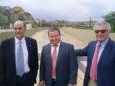 Las obras de acondicionamiento del río Mula se inauguran aguantando perfectamente la riada