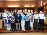 El Alcalde de Molina de Segura recibe a un grupo de quince profesores de Italia, Irlanda, Finlancia y Polonia